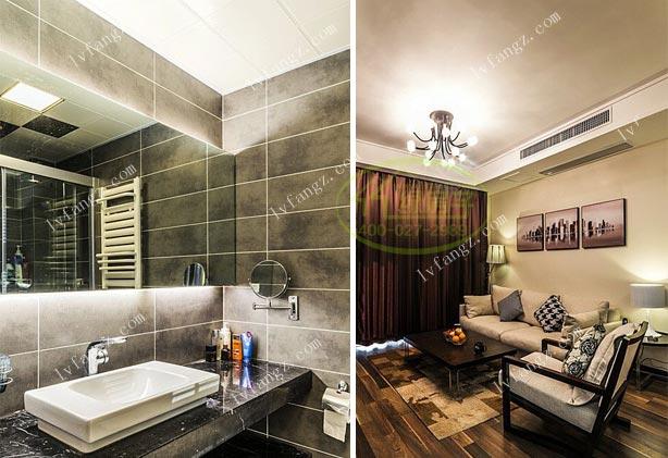 清江山水91平米安装家用型中央空调 暖气片绿房子施工
