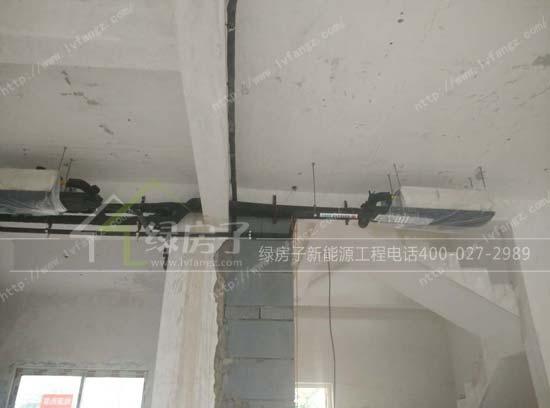 武汉别墅碧海花园地源热泵地板采暖+中央空调+300l
